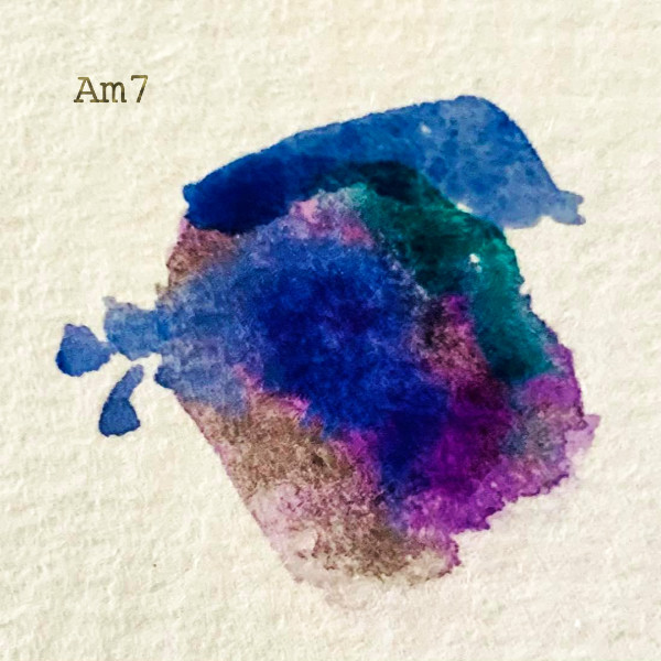 Am7 guitar chord as synesthesia artwork