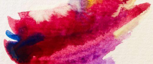 Guitar chord as synesthesia artwork